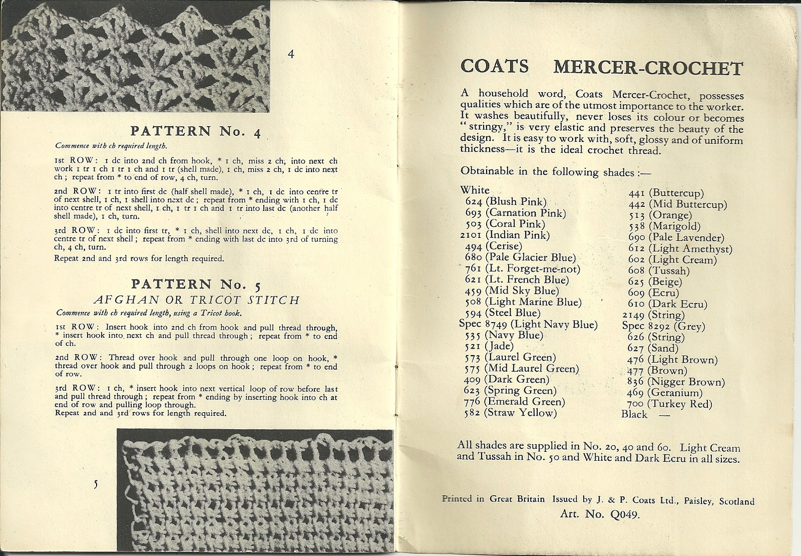 Crochet Pattern Notation : Old Coats Crochet Stitches Booklet Abigail Dace London