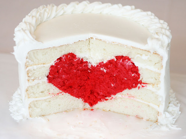 heart cake tutorial, Valentine's Day