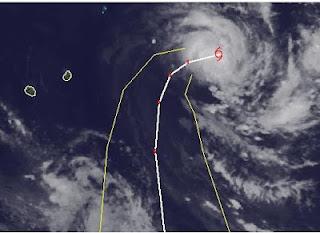 Zyklon HILWA zieht nach Rodrigues, Mauritius, Hilwa, aktuell, Vorhersage Forecast Prognose, Februar, 2012, Satellitenbild Satellitenbilder, Indischer Ozean Indik, Zyklonsaison Südwest-Indik,