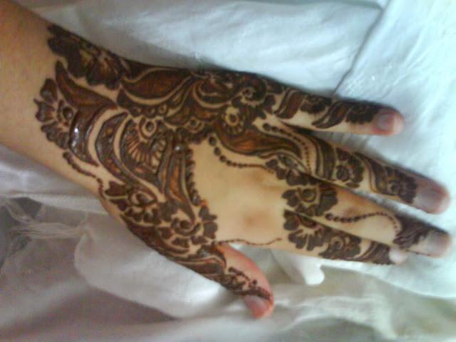 Mehndi For Back Side : Beautiful latest simple arabic pakistani indian bridal
