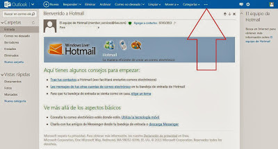 enable more options for hotmail