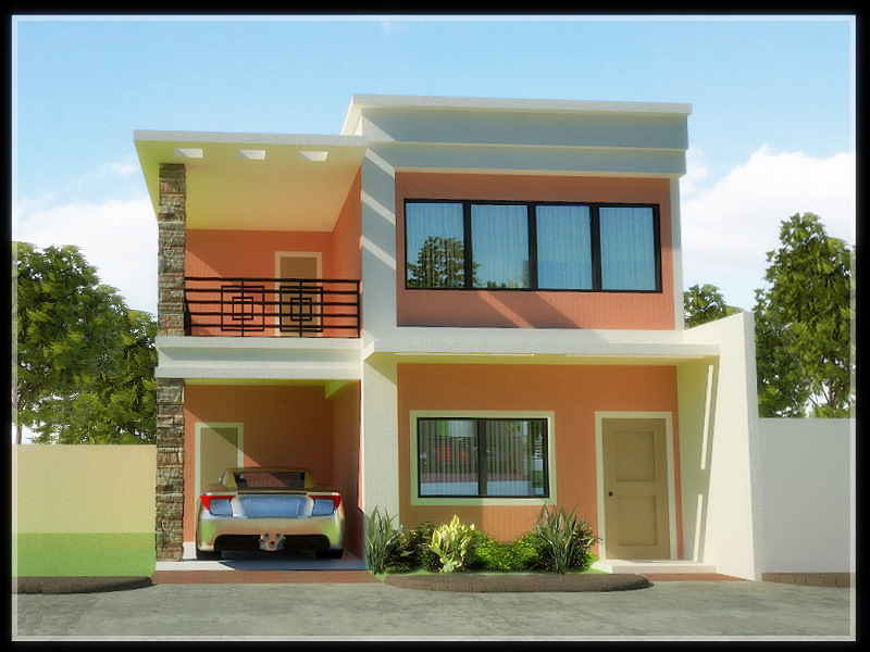 Simple 2 Story House Design 800 x 600