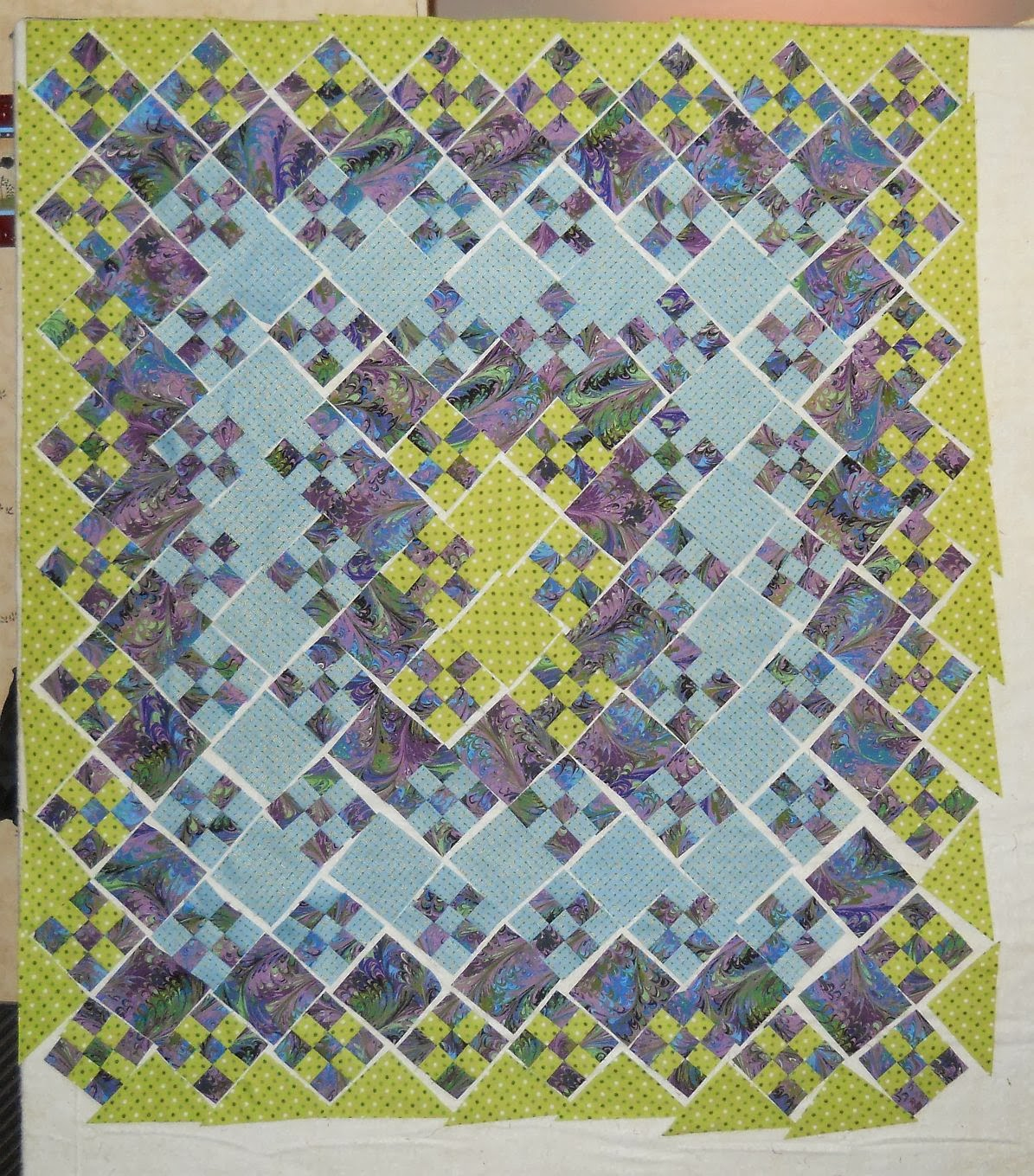 Free Pattern Blooming 9 Patch