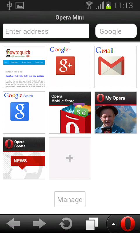 Opera Mini for Android no Exit button by default - HowToQuick.Net