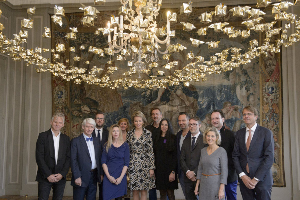 Queen Mathilde visits exhibiton Power of Objects in Brussels