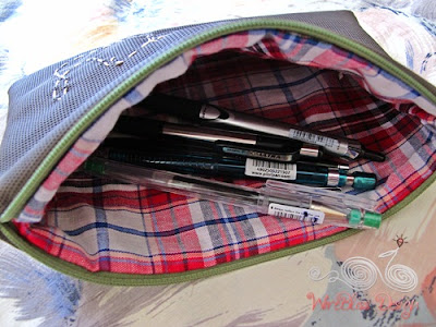 pencil case, sewing by WireBliss