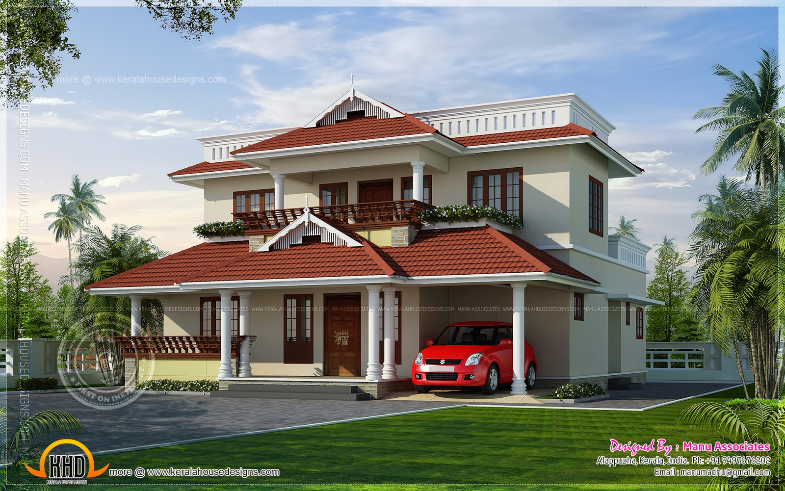Kerala style house in 219 square yards kerala home for For home design