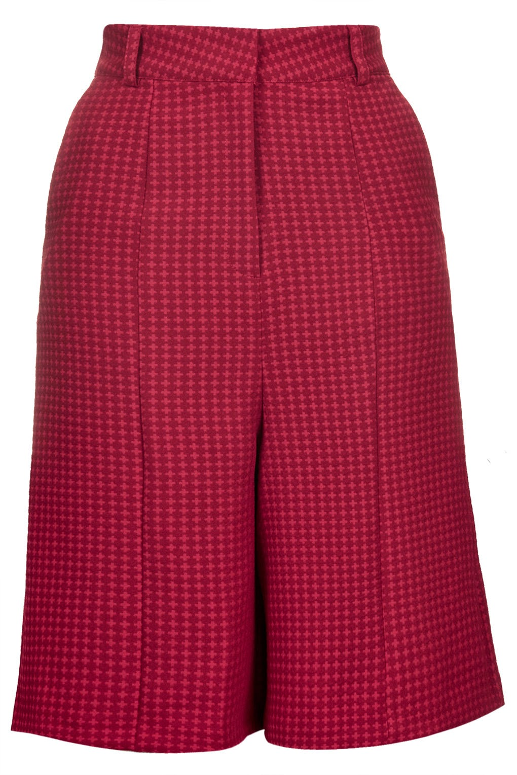 red check culottes