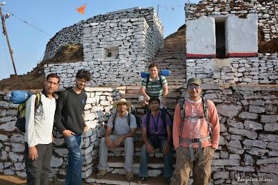 Group photo on the peak of Mullayanagiri