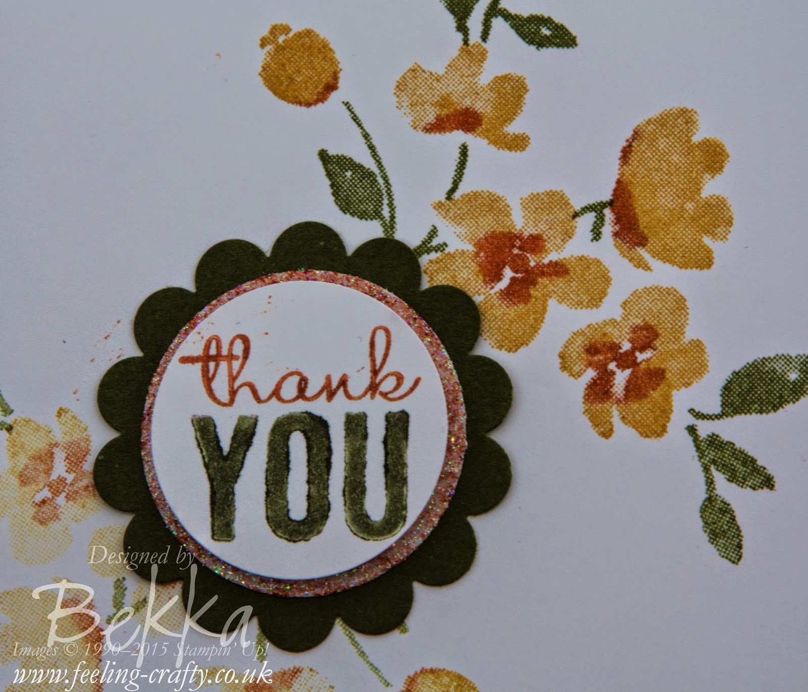 Pretty Painted Petals Thank You Card - check it out here