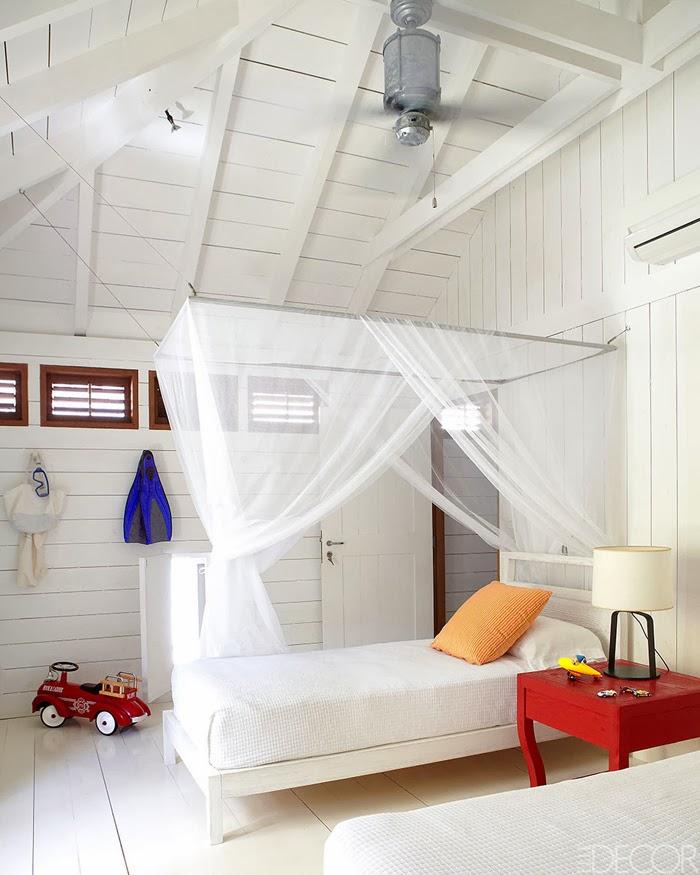 amenajari, interioare, decoratiuni, decor, design interior, casa de vacanta pe plaja, marea caraibelor, dormitor,