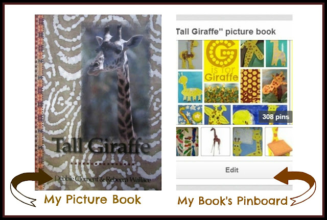 "photo of: ""Tall Giraffe"" Picture Book and Support Pinboard at RainbowsWithinReach"
