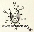 Zentangle-Muster. Tangle: Diskbee, Designer: Beate Winkler, CZT