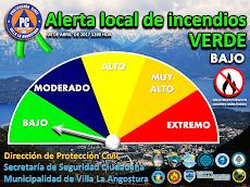 Nivel de alerta local de incendios forestal e interfase