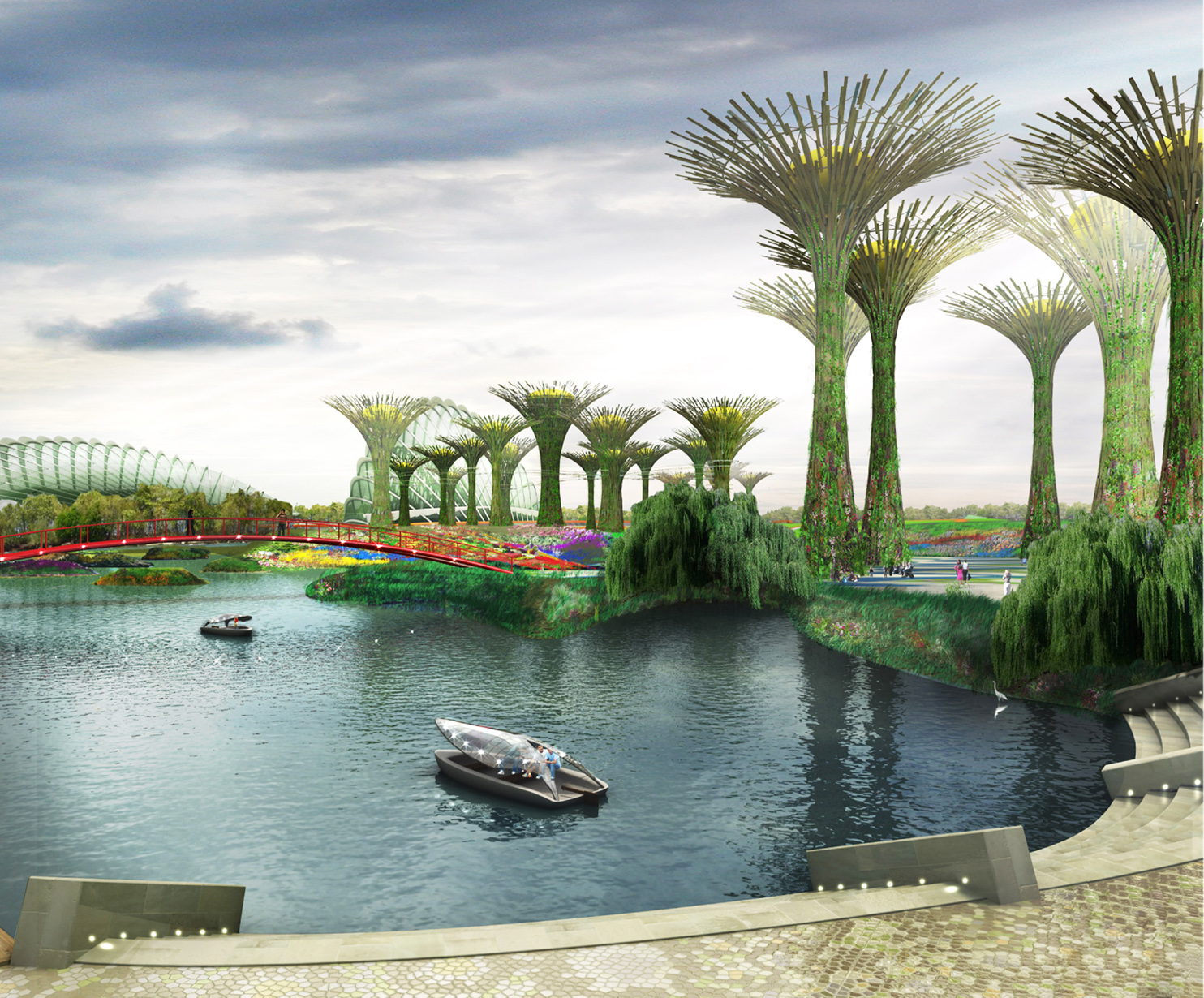 Water Sensitive Landscape and Drainage Design, Gardens By the BayI