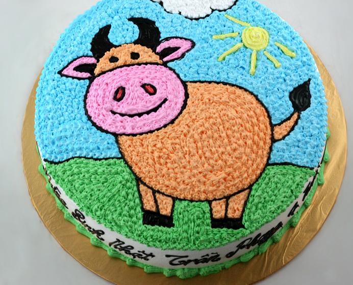Ảnh bánh sinh nhật hình con trâu con bò đáng yêu nhất