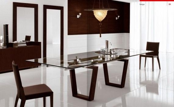 Decora y disena 15 comedores modernos para el interior de - Comedores modernos para espacios pequenos ...