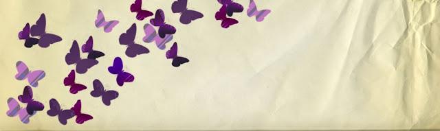 free purple butterflies blog header