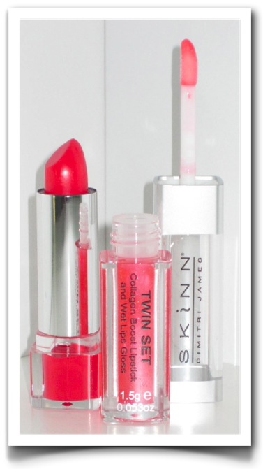 Skinn cosmetics coral poppy twin set review and swatch