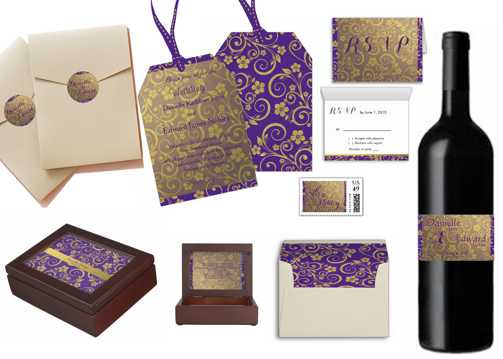 Embracing a Healthy Family: Purple and Gold Flower Wedding ...