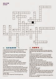 Math Crossword Puzzle Worksheets With Answer Key