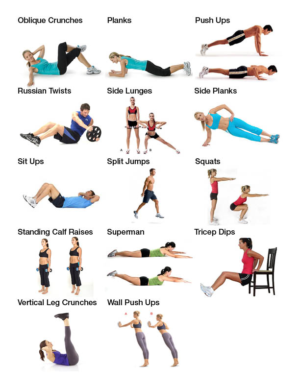 Ten Week Workout Plan Get Results From Your Home Fit Club United