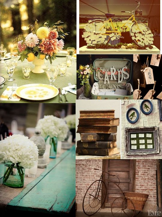 You can have a full our vintage themed wedding or just use items that work
