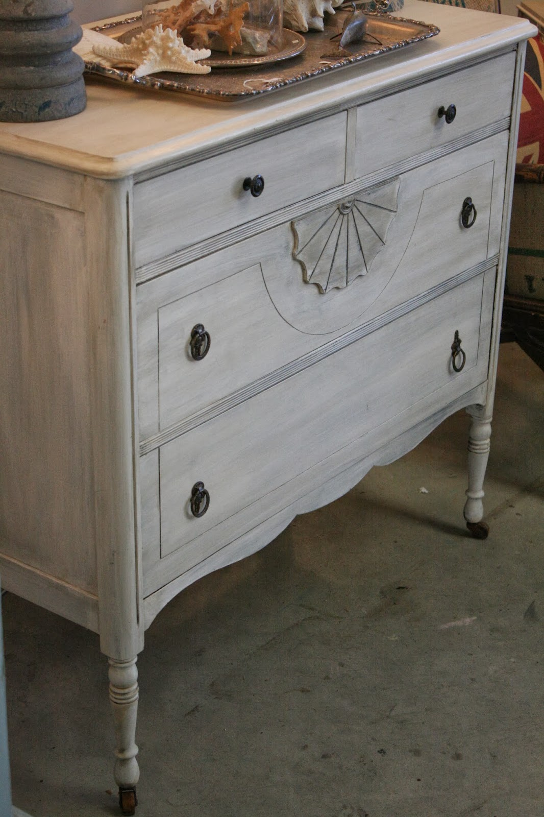 reloved rubbish whitewashed vintage dresser