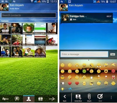 BBM Mod Gingerbread 2.3 Transparan APK Terbaru