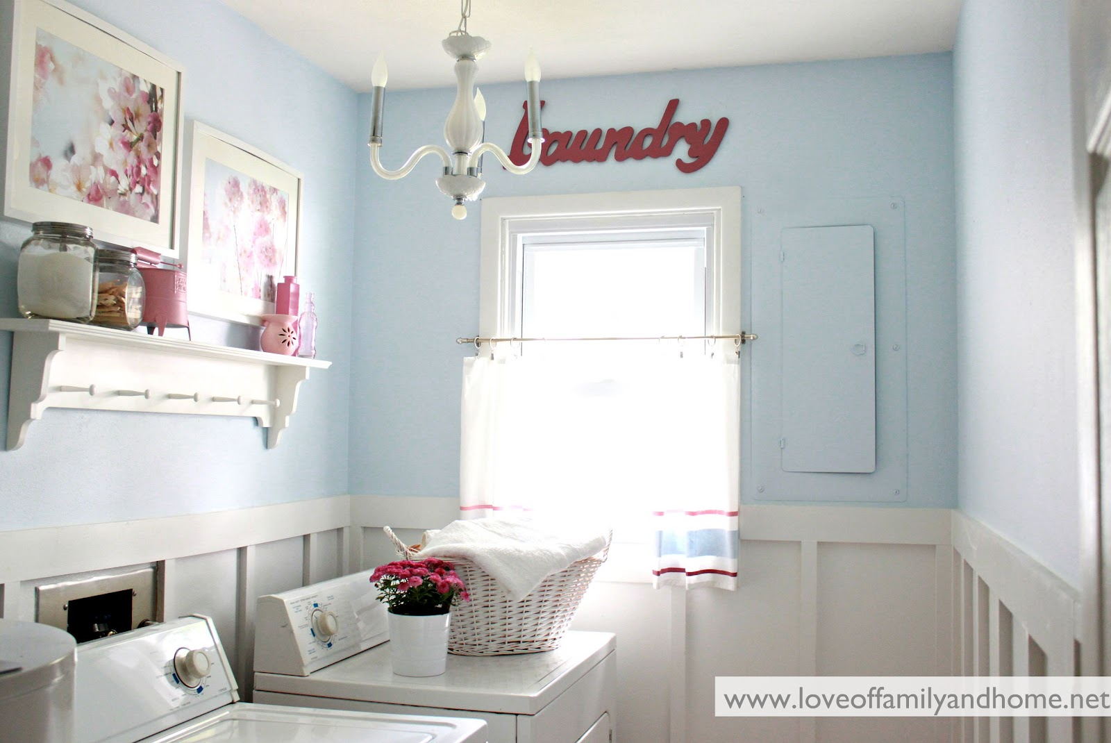 Love Of Family & Home: Laundry Room Reveal {Take 2
