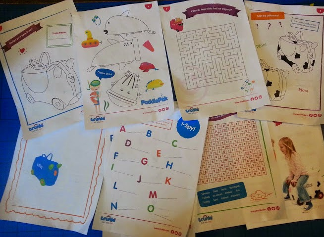 range of Trunki free printables activitysheets and travel games