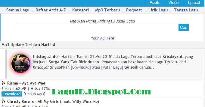 HitsLagu.Info Tempat Download Lagu MP3 Terbaru Gratis