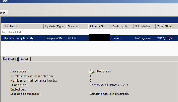 A Networker\'s Log File: Updating of SCVMM Template in Offline mode