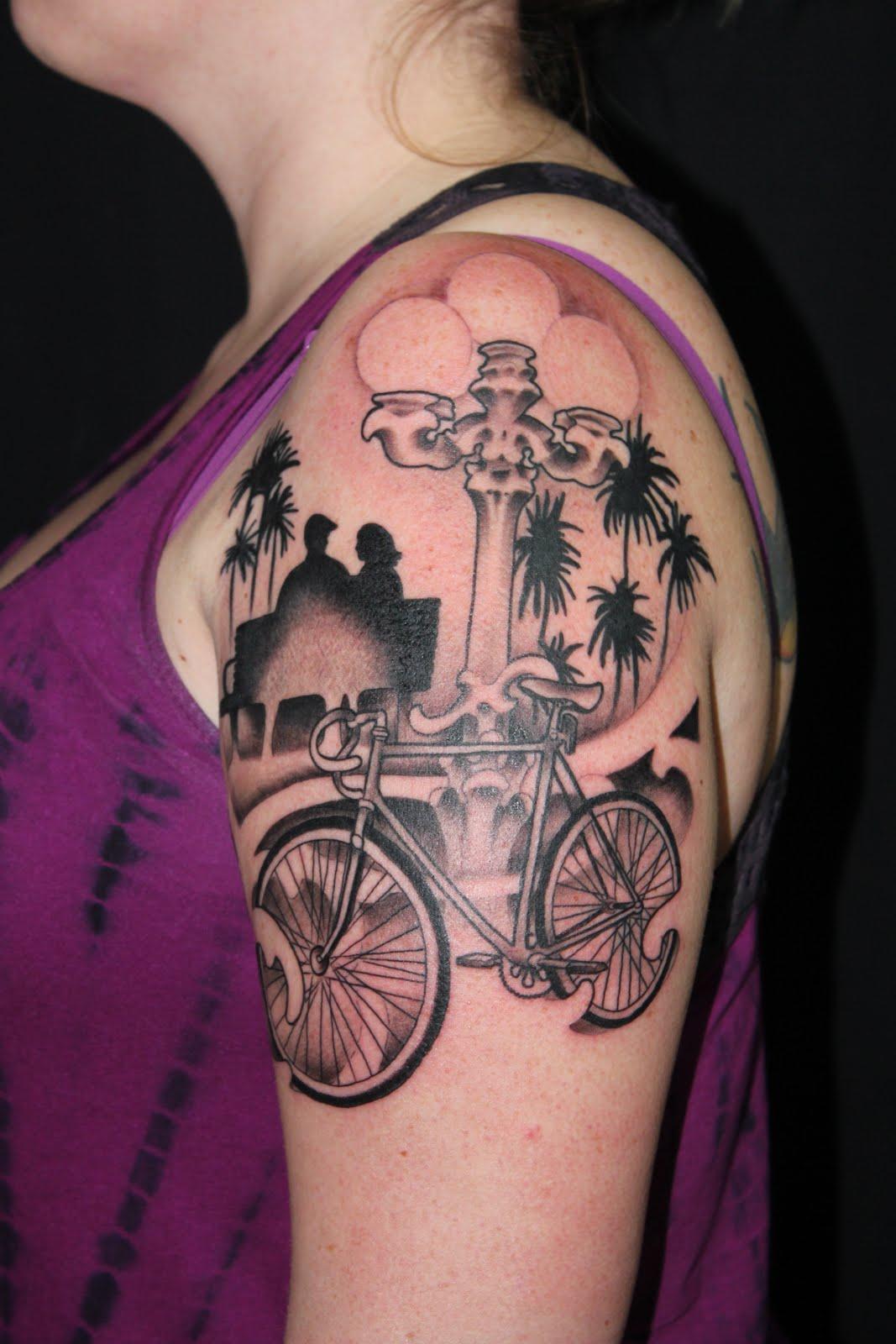 keller tattoos bicycle 1 2 sleeve. Black Bedroom Furniture Sets. Home Design Ideas