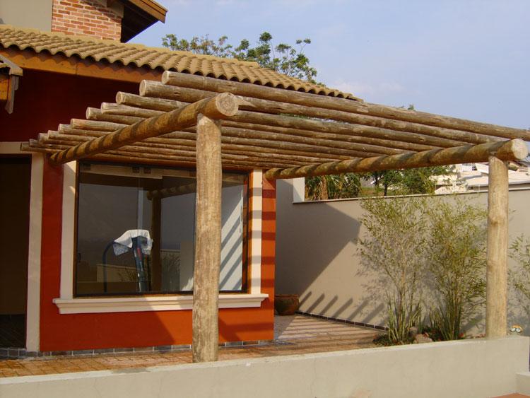 Giovani bisolo arquitetura p rgola - Pergolas de troncos ...