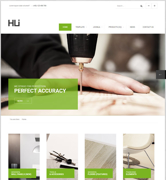 HLI Responsive Corporate Joomla! Template