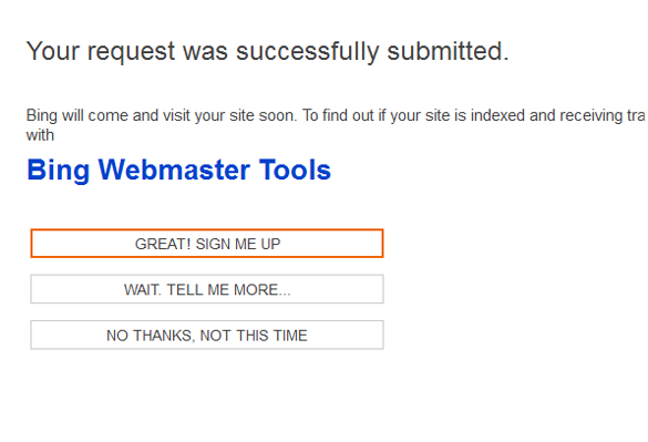 how to submit blogger sitemap to bing yahoo without any errore