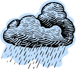 nuage avec une forte pluie (dessin)