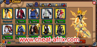 Cheat Ninja Saga Equipment Legendary Kyubi | Full Set