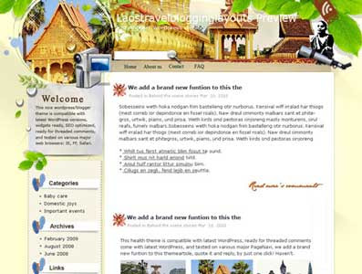 The Golden Land Laos Blogger Template. beautiful background template blogger