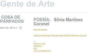 Poesía de Silvia Martínez Coronel(Uruguay)