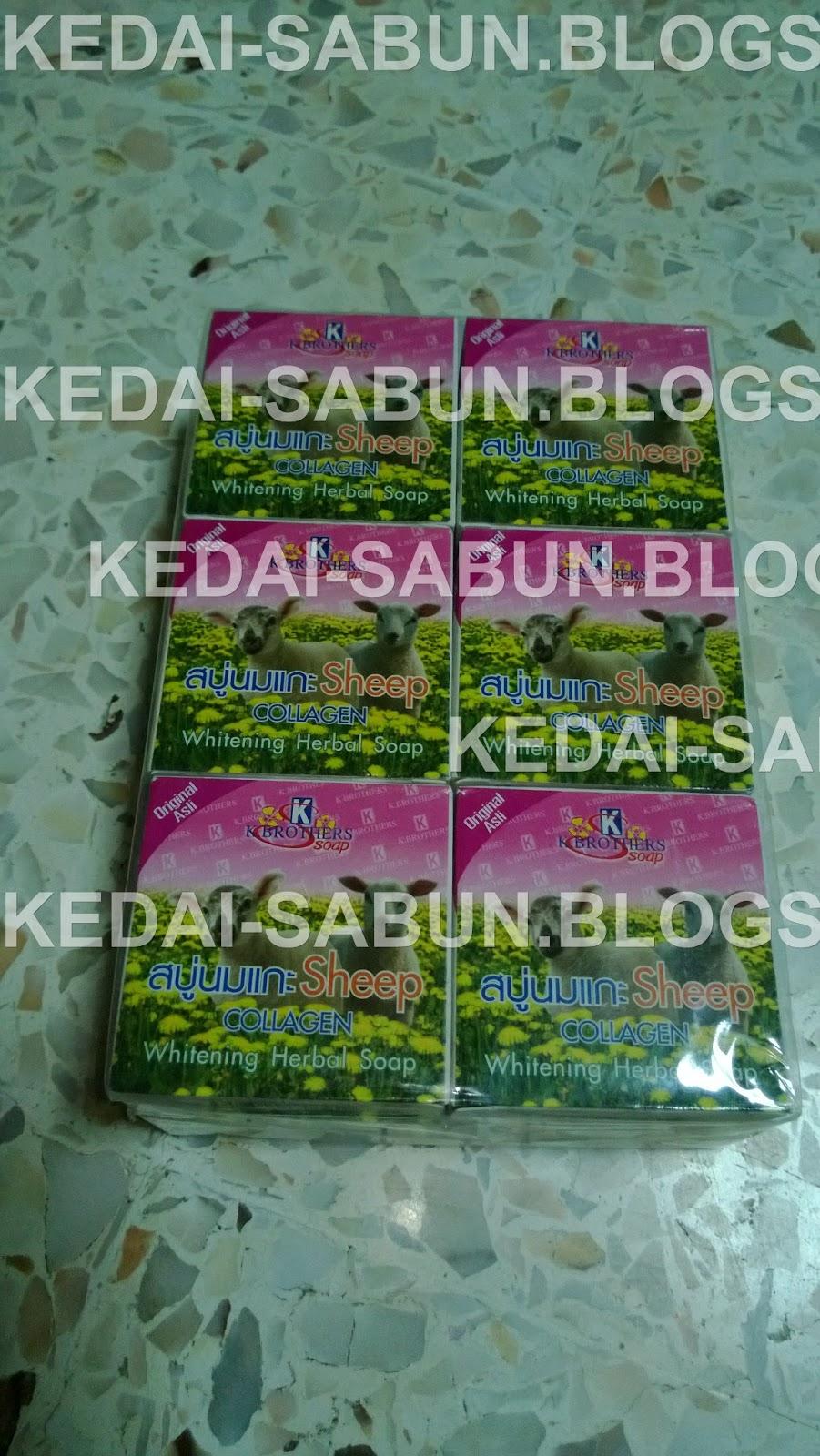 0164360516 Produk Kecantikan Thailand Sabun Susu Biri Dengan Collagen K Brothers Sheep Milk With Soap