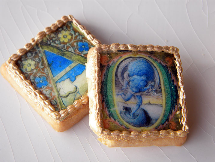Illuminated Medieval Initials cookies