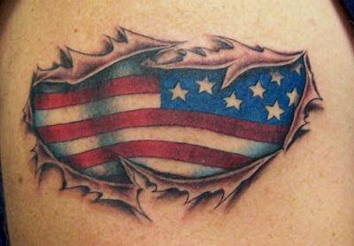 tatuaje de la bandera de estados unidos