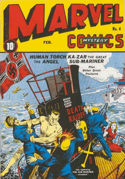 Tapa del primer comic de Namor the Sub-Mariner