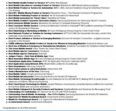 Samsung Raih 5 Penghargaan Bergengsi di MWC 2013