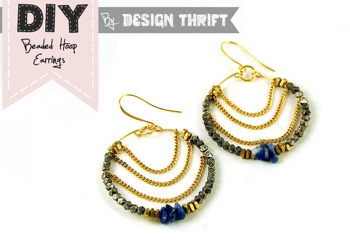 Diy hoop earrings pinterest