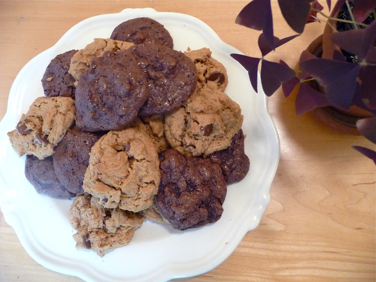 dinner party: chocolate puddle cookies