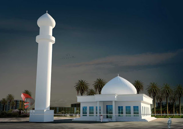 3d architecture design of mosque,3d architecture rendering
