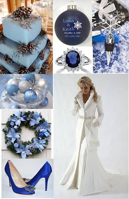 Diy Wedding Crafts Christmas Wedding Theme Board Blue